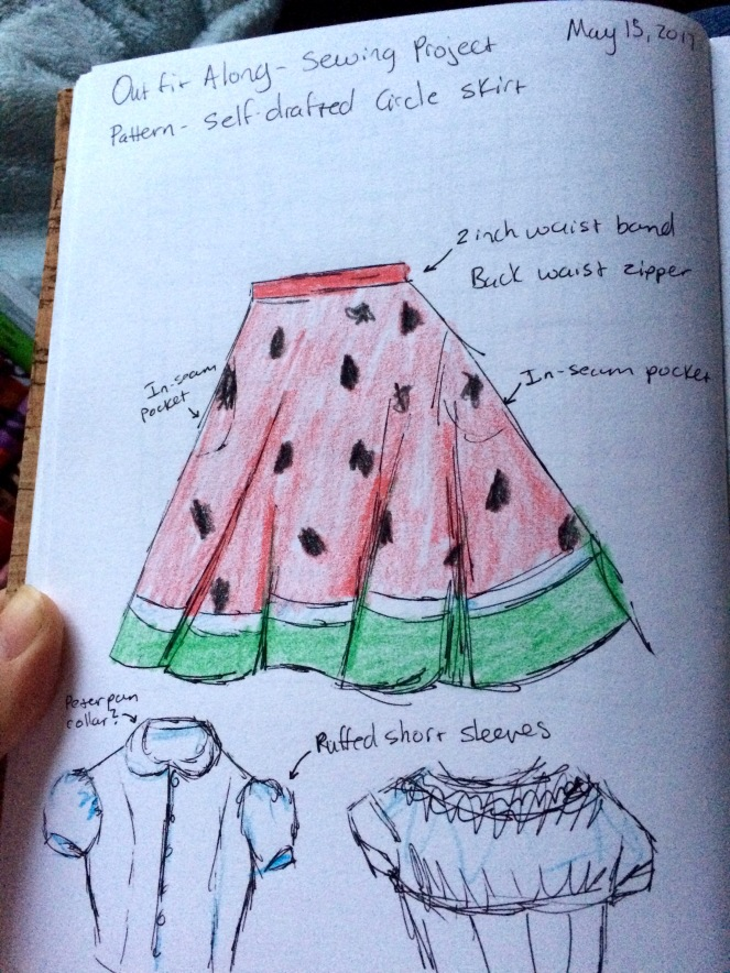 Watermelon Skirt Sketch2